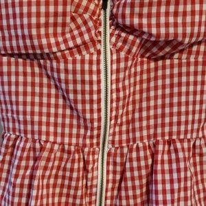 Iris Tops - Red gingham strap top